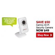 $49 (Save $50) CamVu Wireless Security Camera For iPhone & Android @ The Warehouse - Bargain Bro