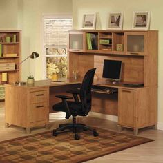 home office corner desk furniture home office furniture desk Wall units can be of a number of different types. home office corner desk furniture are one of the m. Corner Desk Shelf, Office Shelf, Corner Office, Desk Shelves, Corner Furniture, Large Furniture, Home Office Furniture, Furniture Design, Furniture Ideas