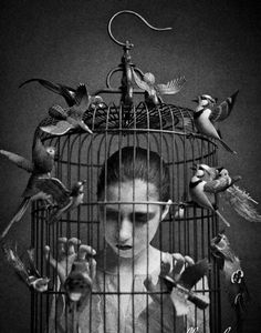 conceptual modern art  from flock Angry Menagerie • Mick Ryan