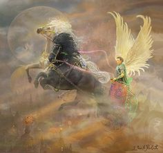 Archangel Metatron Print By Steve Roberts