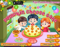 Cake Games, Cooking Games, Home Chef, Play Food, Pumpkin Cheesecake, Chefs, Delicious Desserts, Cake Recipes, Apron