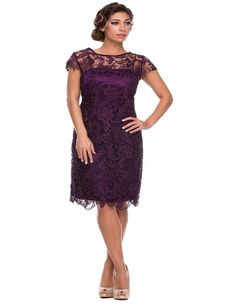 Lace Short Mother Of The Bride Formal Gown Dresses Knee Length Mother'S Dresses…