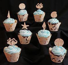 'cupcake wraps' | Seashell Cupcake Wrappers - Free Cutting Files | TeamKNKTeamKNK