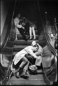 "burnedshoes:  © Leonard Freed, 1969, Grand Central at New Years Eve, NYC  ""We will open the book. Its pages are blank. We are going to put words on them ourselves. The book is called opportunity and its first chapter is New Year's Day."" (Edith Lovejoy Pierce)  Happy New Year!"