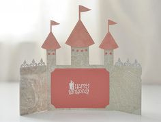 Castle Card SVG File - Castle Party Invitation