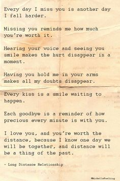 How true this was, now it's missing you because you've created distance between us.