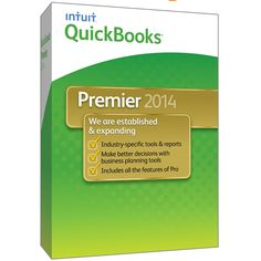 #QuickBooks Premier 2014 Industry Edition Intuit Software Full Version #Windows - #Business & Home #Office
