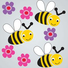 GelWonder | Window Clings | Small Bag of Bees | Spring | Can be used on any non-porous surface | www.homearama.co.uk