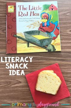 Literacy Snack Idea Little Red Hen #kindergarten #fables #literacysnack #booksnack #redhen