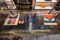 The new temporary Fendi boutique in Beijing displaying the current PreFall15 collection.
