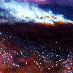 Irish Landscape  'Bog Fire'  Irish Landscape painting  Irish Art