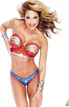 Tie me up and force me to tell the truth Wonder Woman! Please! Should have been a body paint artist.