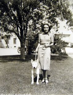 Dolores Del Rio and her Pit Bull