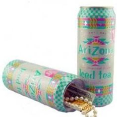 Can Safe Arizona Ice Tea Discreet and safe, a great place to hide your weed or . Stash Containers, Stash Jars, Diversion Safe, Can Safe, Secret Hiding Places, Stoner Gifts, Security Tips, Arizona Tea, Shaving Cream