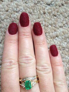 Flocked/Velvet nails