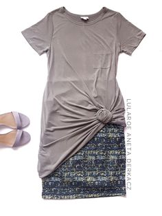 LuLaRoe Carly dress in luxurious modal material worn over a jacquard LuLaRoe Cassie lencil skirt is a sure way to amp up your LuLaRoe outfit game! Click the pic to shop!