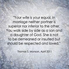 LDS Marriage Quote | Thomas S. Monson http://sprinklesonmyicecream.blogspot.com/