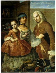De español y mestiza – Castiza. Pintura de castas (Miguel Cabrera) – IMAGENES | Historia de América Latina Colonial