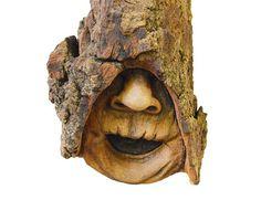Wood Spirit Carving Cottonwood Bark Handmade by JoshCarteArt, $95.00