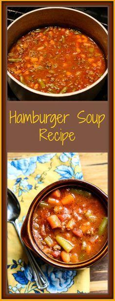 Hamburger Soup Recipe