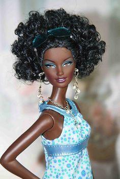 Milan's afro look by my scene junkie, via Flickr #Afro #Barbie