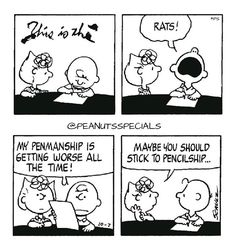 First Look: October 1980 brown Source by peanutsspecials Peanuts Cartoon, Peanuts Snoopy, Peanuts Comics, Sally Brown, Black And White Comics, October 7, Classic Cartoons, Penmanship, Charlie Brown