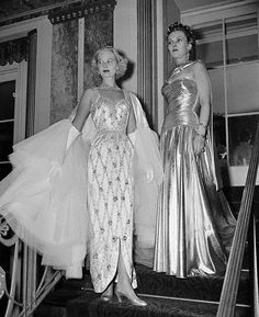 C.Z. Guest and Anita Colby at the Knickerbocker Ball, 1952