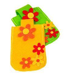 Idées créative - Pochette en feutrine pour téléphone portable et iPod - buttinette - loisirs créatifs
