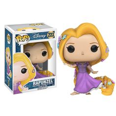 This is a Disney Tangled POP Rapunzel Vinyl Figure that is produced by Funko. This Rapunzel POP Vinyl features Rapunzel in her princess gown. Super cute! It's always great to see a Disney Princess POP