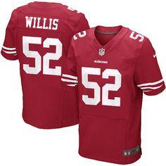 2b67e6404 Nike Elite Patrick Willis Red Men s Jersey - San Francisco 49ers  52 NFL  Home