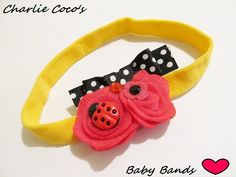 Newborn Ladybug and Felt Flower Headband...so cute!!