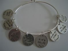 """""""BECAUSE YOU CAN'T WEAR YOUR MEDALS TO WORK""""...  My new """"running charm bracelet"""" from """"i declare! charms""""! A fun way to remember and document your half and full marathons or any fitness achievement!! Can't wait to cret and add my own charms! Need your own? GO TO:  http://www.ideclarecharms.com/"""