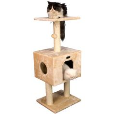 Armarkat Brown Faux Fur Cat Tree at Lowe's. Armarkat model classic cat tree features two levels and a roomy playhouse. This compact cat tree, available in beige, is Cat Daddy Approved by noted Cutest Kitten Breeds, Cat Trees Cheap, Cat Tree Designs, Wood Cat, Cat Towers, Cat Scratching Post, Cat Condo, Home Decor Store, Cat Furniture