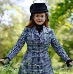Jul 2021 in Emily London | Royal Hats Town And Country Magazine, Sarah Ferguson, Duchess Of York, Boater Hat, Silk Organza, White Silk, Royal Fashion, London, Portrait