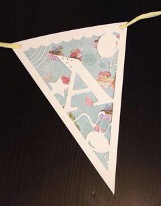 Gorgeous hand made papercut bunting by SLS creative #handmade #papercut #slscreative