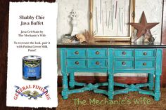 The Mechanics Wife, http://themechanicswifeblog.com/, chose the ever popular GF Java Gel Stain on this buffet top. If you're looking for a deep rich color, Java is for you!