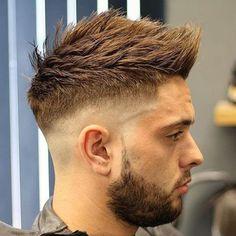 Faux Hawk + High Taper Fade - Best High Fade Haircuts For Men: Cool High Taper Fade Hairstyles, High Skin, Bald, Taper, Undercut Fade Mens Haircuts Faux Hawk Hairstyles, Cool Hairstyles For Men, Hairstyles Haircuts, Haircuts For Men, Blowout Hairstyles, Classy Hairstyles, Trending Hairstyles For Men, Mens Hairstyles Fade, Popular Haircuts