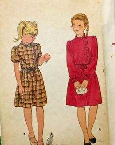 Vintage 1970s Sewing Pattern Butterick 3366 Girl's