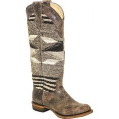 Stetson Grey Serape Ladies Boot