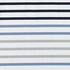 Dralon hvid m blå/grå striber - Stoff & Stil
