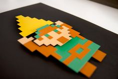 Hey, I found this really awesome Etsy listing at https://www.etsy.com/listing/94488271/legend-of-zelda-link-paper-8-bit-art