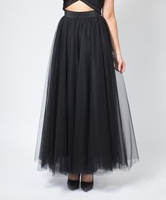 Loving this Space 46 Boutique Black Soft Maxi Tulle Skirt on #zulily! #zulilyfinds