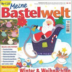 Meine Bastelwelt Winter & Weihnachten Christmas Books, Christmas Crafts, Workshop, Paper Cutting, Kids Rugs, Album, Crafty, Techno, Advent