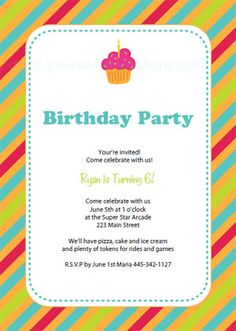 Balloon Birthday Party Invitation Free Printable Kids Birthday - Templates for birthday party invitations