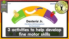 DEXTERIA JR.. is a set of hand and finger exercises to develop fine motor skills and handwriting readiness. The multi-touch interface helps build strength, control, and dexterity.  The activities are specially designed for kids age 2-6.  For best results the exercises should be done on a regular basis in short sessions. The exercises are designed to be repeatable and engaging.