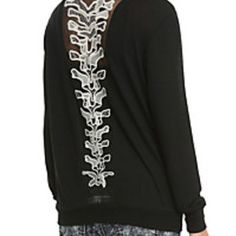 Spine-Back Long-sleeve Top