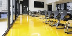 Yellow references-by-colours-yellow Basement, Conference Room, Design Inspiration, Colours, Interior Design, Yellow, Table, Furniture, Home Decor