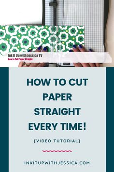 card making tools Learn how to cut paper straight EVERY time with this quick and easy card making video tutorial! Card Making Ideas For Beginners, Card Making Tips, Card Making Tutorials, Card Making Techniques, Card Making Inspiration, Making Tools, Video Tutorials, Cut Paper, Paper Cutting