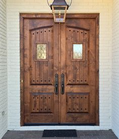 Custom Old World Arched Panel Double Doors Entry - Doors by Decora