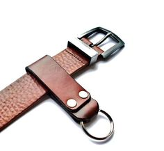 Customizable Leather Keychain with Key Ring MXS